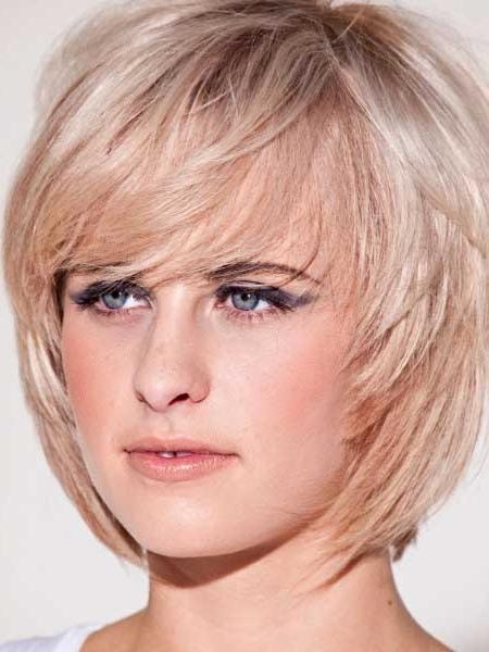 Most Pertaining To Most Popular Short Layered Bob Hairstyles With Bangs (View 7 of 15)