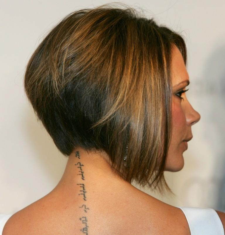 Most Popular Inverted Bob Hairstyles Back View Pertaining To Victoria Beckham Bob Haircut – Hairstyles Weekly (View 8 of 15)