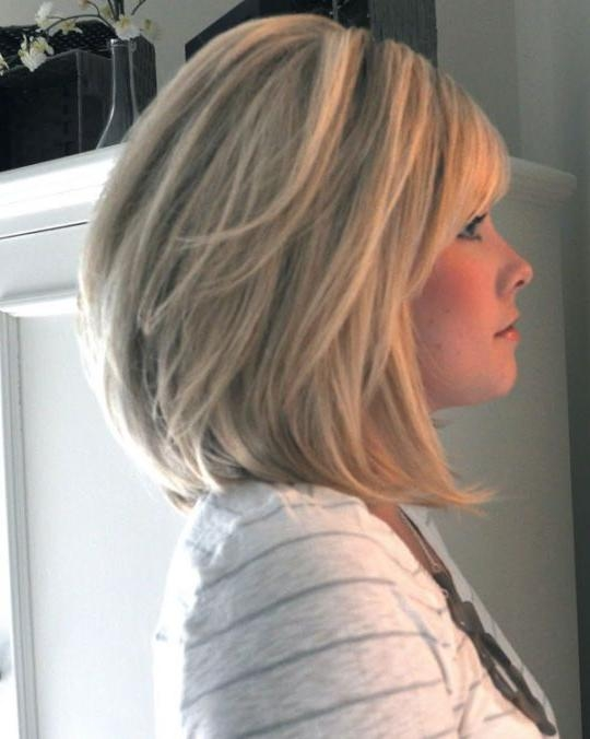 Most Recent Medium Length Layered Bob Hairstyles In Best 25+ Shoulder Length Bobs Ideas On Pinterest (View 7 of 15)