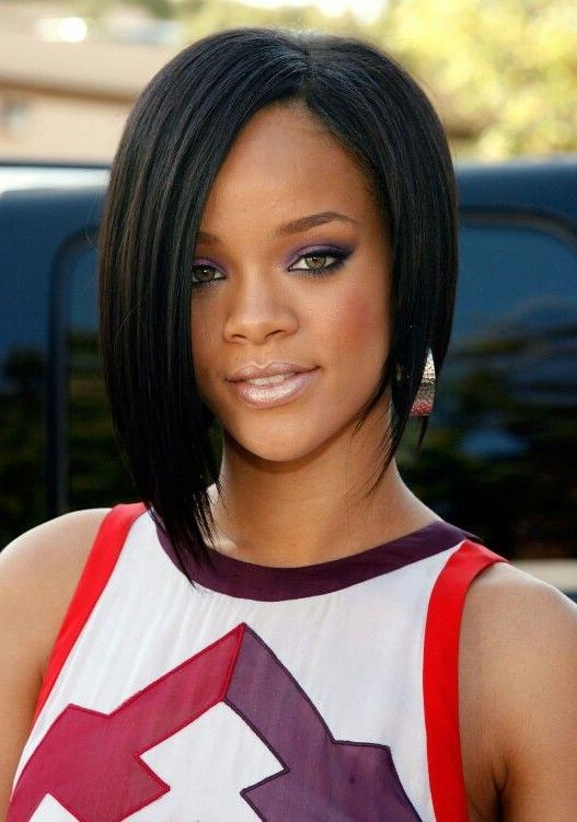Most Recent Rihanna Bob Hairstyles Inside Rihanna Bob Hairstyles – Billedstrom (View 8 of 15)