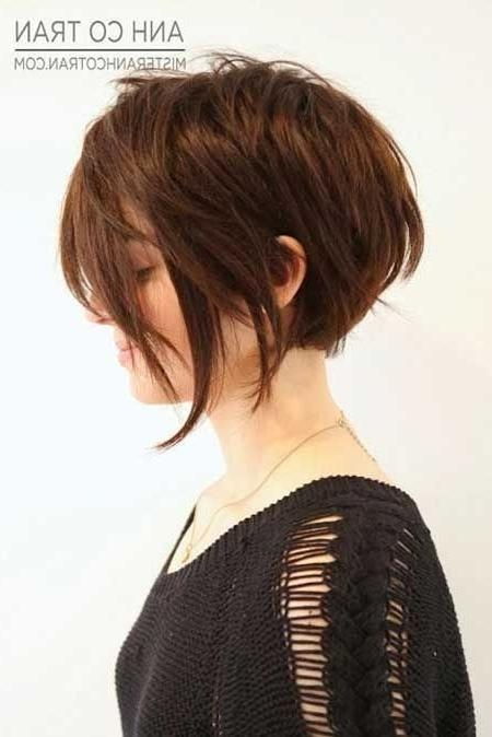 Most Recently Released Asymmetrical Bob Hairstyles Back View Pertaining To 18 Short Hairstyles For Winter: Most Flattering Haircuts – Popular (View 11 of 15)