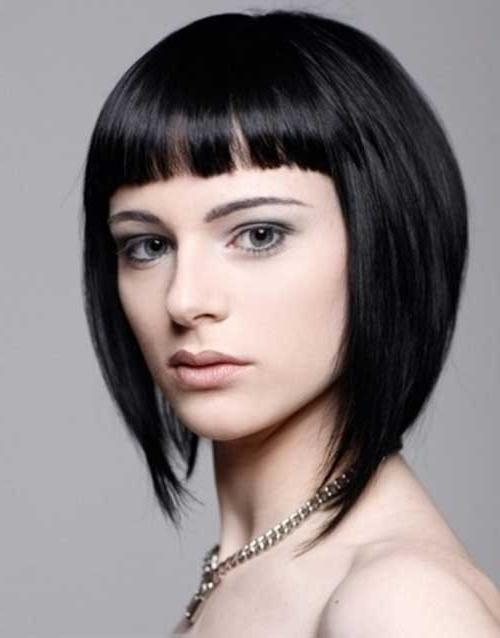 Most Recently Released Inverted Bob Hairstyles With Bangs Within 25 Inverted Bob Haircuts For Flawless Fashionistas – Part  (View 11 of 15)