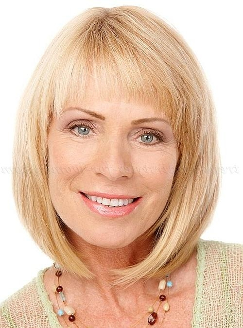 Most Recently Released Medium Length Bob Hairstyles With Bangs With Shoulder Length Hairstyles Over 50 – Shoulder Length Bob Haircut (View 13 of 15)