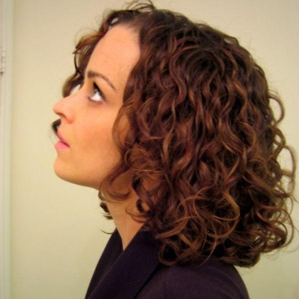 Most Recently Released Medium Length Curly Bob Hairstyles Pertaining To Curly Bob Hairstyle For Mid Length Hair (View 11 of 15)