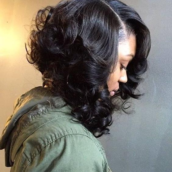 15 photo of curly bob hairstyles for black women
