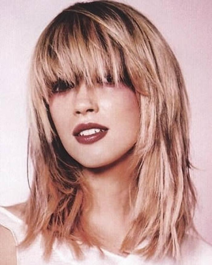 Of Long Bobs With Bangs Long Layered Haircuts With Bangs Inside Long Choppy Layered Haircuts With Bangs (Gallery 9 of 15)