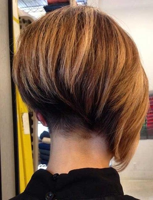 Pictures Of Stacked Hairstyles 2017 With Regard To Most Recently Released Asymmetrical Bob Hairstyles Back View (View 14 of 15)