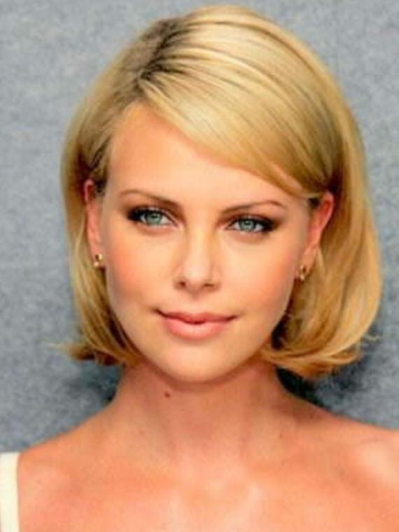 Pinterest In Latest Charlize Theron Bob Hairstyles (View 13 of 15)
