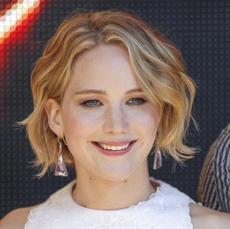 Popular Jennifer Lawrence Short Bob Haircuts Within Copy Jennifer Lawrence's Wavy Bob Haircut For Your Face Shape (View 13 of 15)