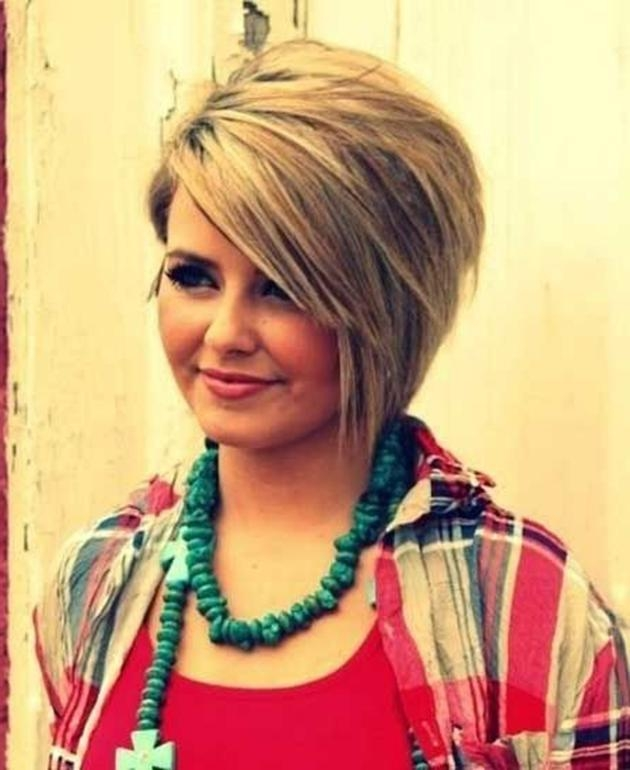 Photo Gallery Of Short Asymmetrical Bob Hairstyles Viewing 13 Of 15