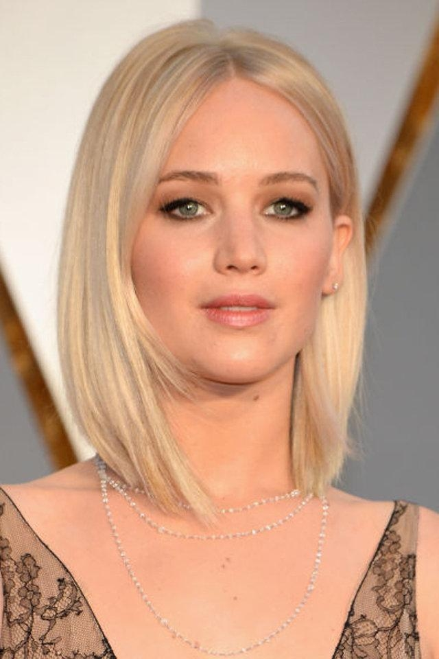 Preferred Jennifer Lawrence Short Bob Haircuts Inside Trendy Bob Haircuts From Celebrities For 2016/2017 – Page (View 9 of 15)