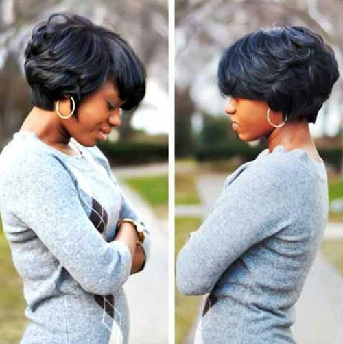 Preferred Short Black Bob Hairstyles Inside Black Women Bob Haircuts 2015   (View 11 of 15)