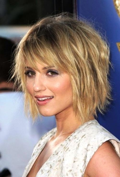 Photo Gallery of Medium Length Bob Hairstyles For Fine Hair (Viewing ...