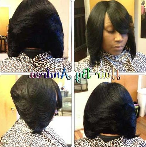 Recent Short Bob Hairstyles With Weave In 15 Best Short Weave Bob Hairstyles (View 13 of 15)