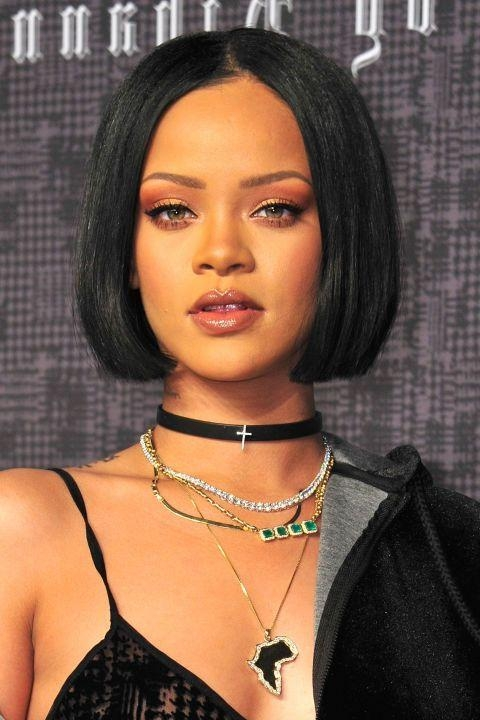 Rhianna Short Regarding Well Liked Rihanna Bob Hairstyles With Weave (View 13 of 15)