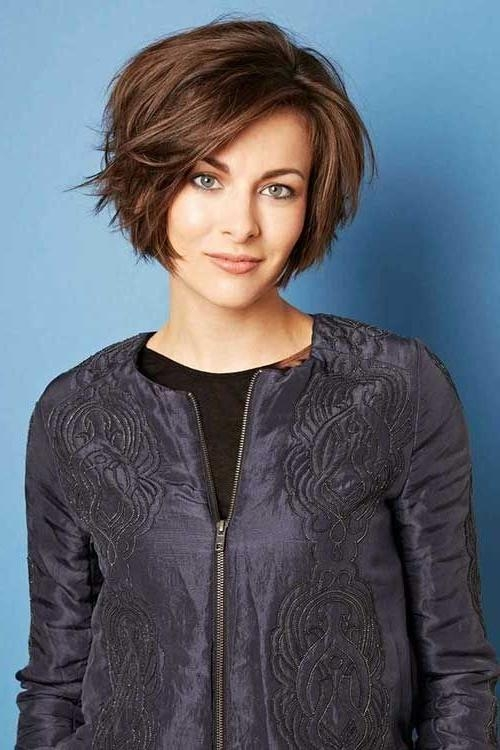 Short Bob Haircuts Intended For 2017 Layered Bob Hairstyles For Short Hair (View 14 of 15)
