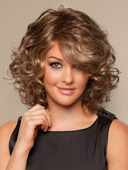 medium length hair styles for curly hair 15 inspirations of medium length curly bob hairstyles 7909