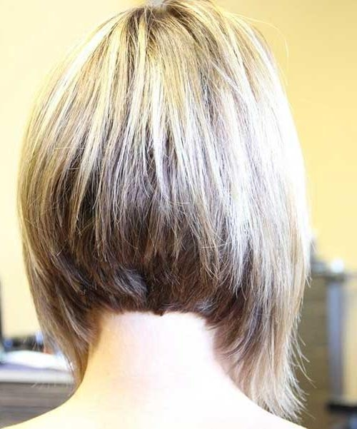 Short Hairstyles 2016 – 2017 With 2018 Inverted Bob Hairstyles Back View (View 13 of 15)