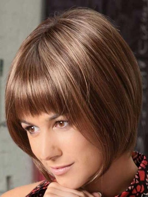 Short Hairstyles 2016 – 2017 Within Most Recent Inverted Bob Hairstyles With Bangs (View 14 of 15)