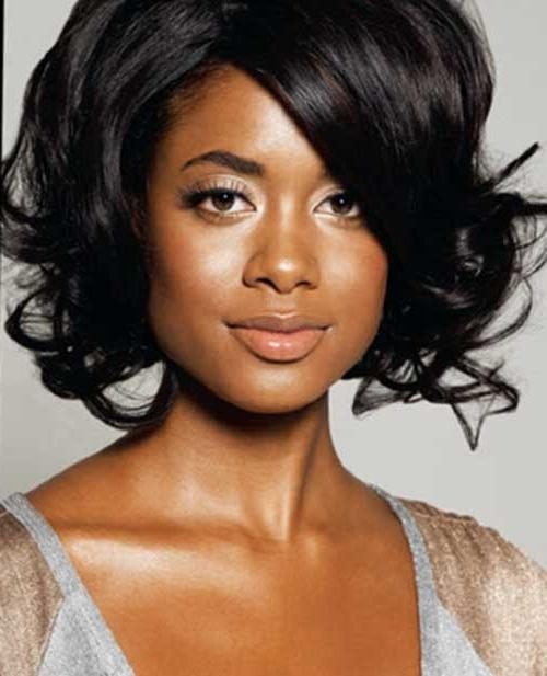 Short Hairstyles 2016 Within Current Wavy Bob Hairstyles For Black Women (View 10 of 15)