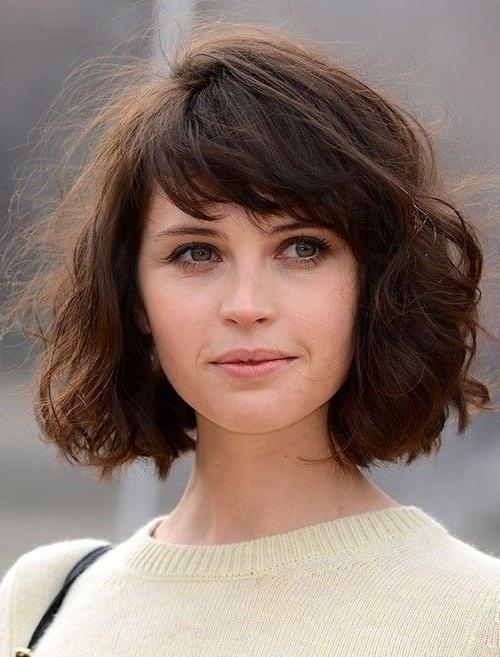 Featured Photo of Wavy Bob Hairstyles With Bangs