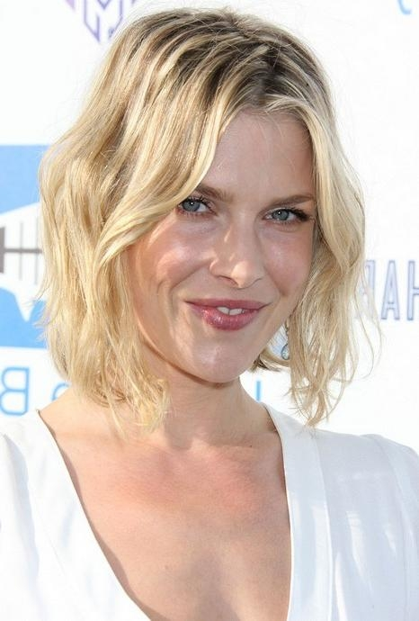 Short Tousled Curly Bob Hairstyle 2014 – Ali Larter Short Blonde In Popular Ali Larter Bob Hairstyles (View 14 of 15)