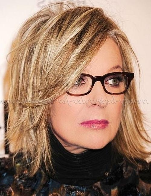 Shoulder Length Hairstyles Over 50 – Diane Keaton Layered Bob Intended For Recent Medium Length Layered Bob Hairstyles (View 14 of 15)