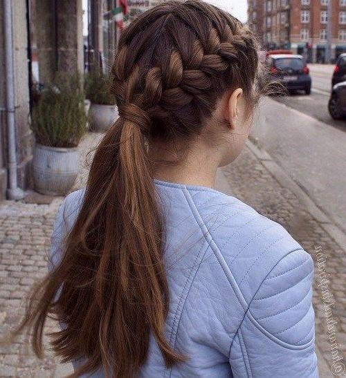 Simple Braided Hairstyles For Thick Hair Intended For Braids Hairstyles For Long Thick Hair (View 15 of 15)