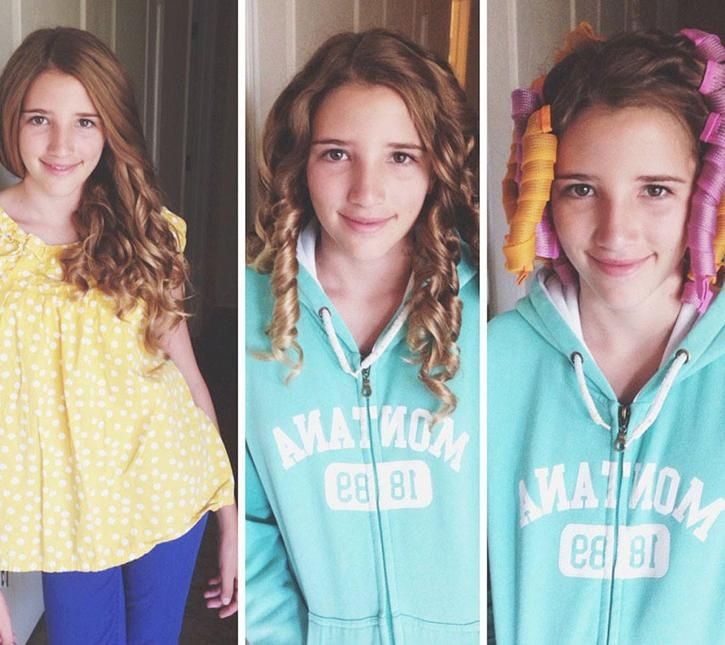 Simple Holiday Hairstyles For Girls + Our Favorite Curlers Intended For Curlers For Long Thick Hair (View 12 of 15)