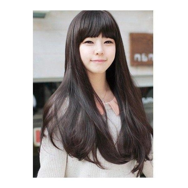 The 25+ Best Korean Hairstyles Women Ideas On Pinterest | Korean Inside Long Hairstyles For Korean Women (View 3 of 15)