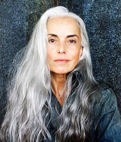 The 25+ Best Long Hair For Older Women Ideas On Pinterest | Older With Hairstyles For Older Women With Long Hair (View 15 of 15)