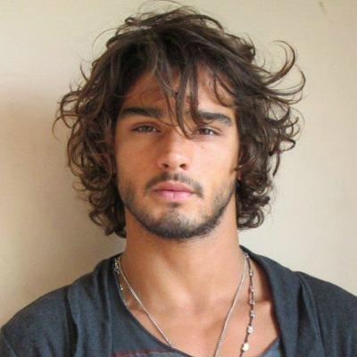 Photo Gallery Of Men Long Curly Hairstyles Viewing 2 Of 15 Photos