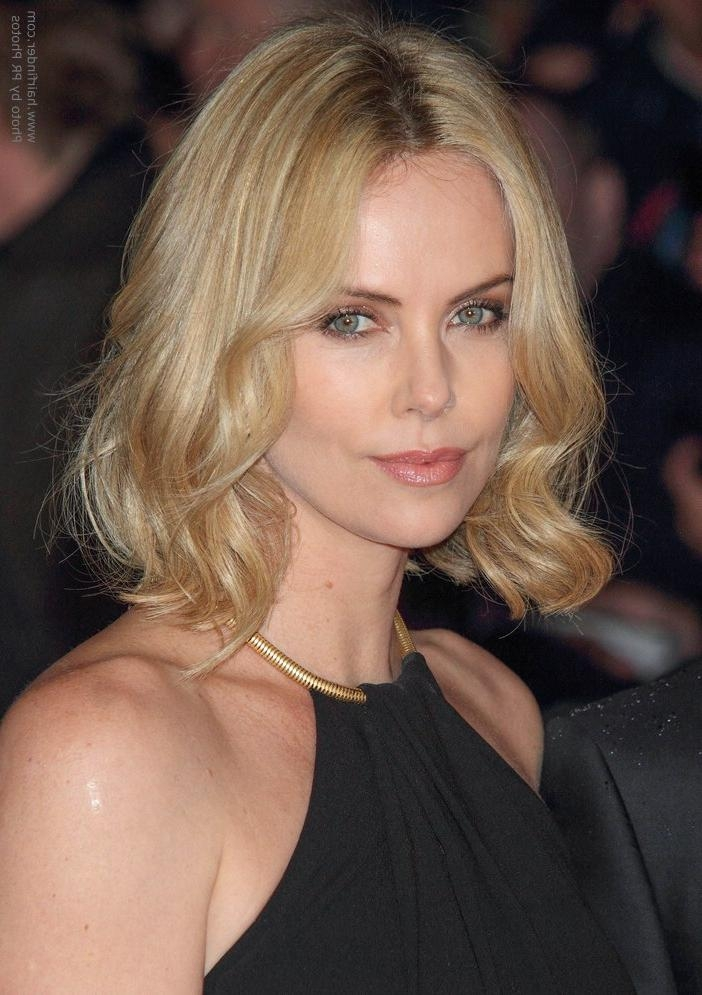 Trendy Bob Haircut With Variations Of Blonde Throughout Famous Charlize Theron Bob Hairstyles (View 9 of 15)