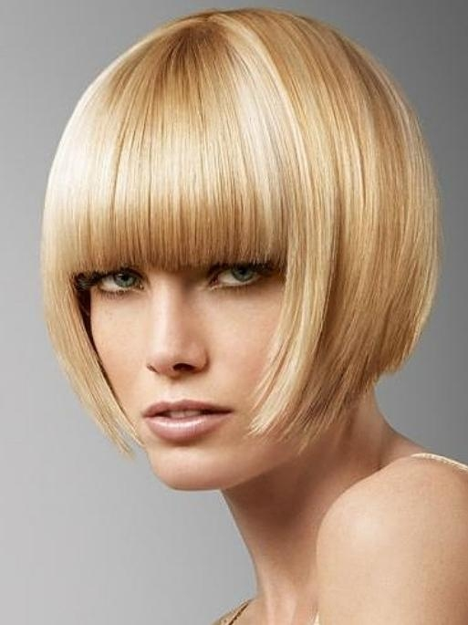 Trendy Inverted Bob Hairstyles With Blunt Bangs With Inverted Bob Hair Style With Blunt Bangs – Hairstyles Weekly (View 13 of 15)