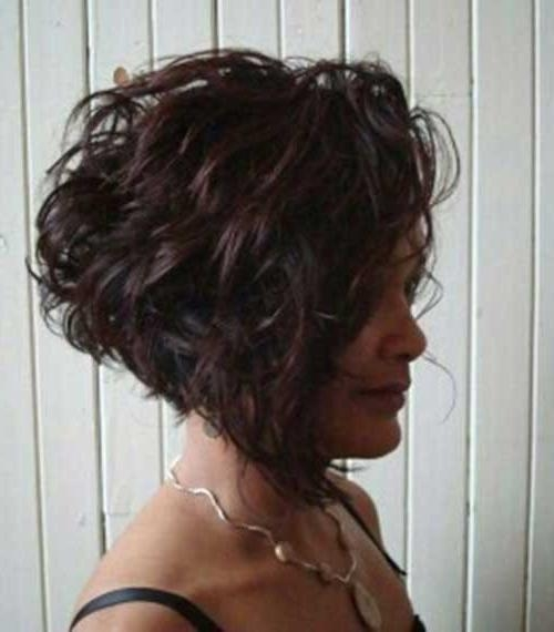 Trendy Short Curly Inverted Bob Hairstyles Pertaining To Short Curly Haircuts 2014 –  (View 13 of 15)