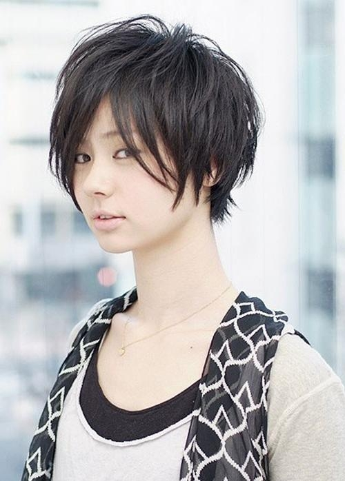 Trendy Short Hairstyles For Asian Women – New Hairstyles, Haircuts Regarding Trendy Korean Short Hairstyles (View 5 of 15)