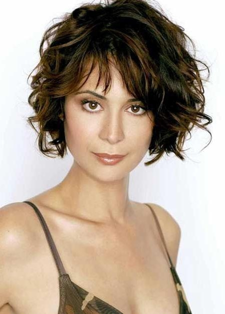 15 photo of wavy bob hairstyles with bangs