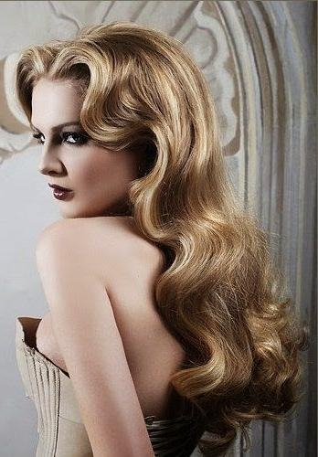 Wavy Retro Hairstyles 2016 | Haircuts, Hairstyles 2017 And Hair In Long Vintage Hairstyles (View 15 of 15)