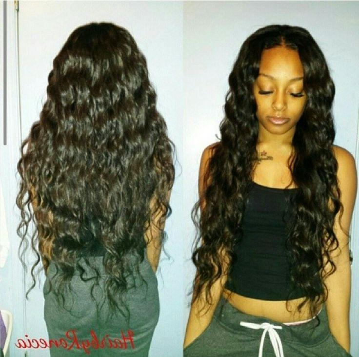 Weave Hairstyles To Get Ideas How To Remodel Your Hair With Chic For Wavy Long Weave Hairstyles (View 3 of 15)