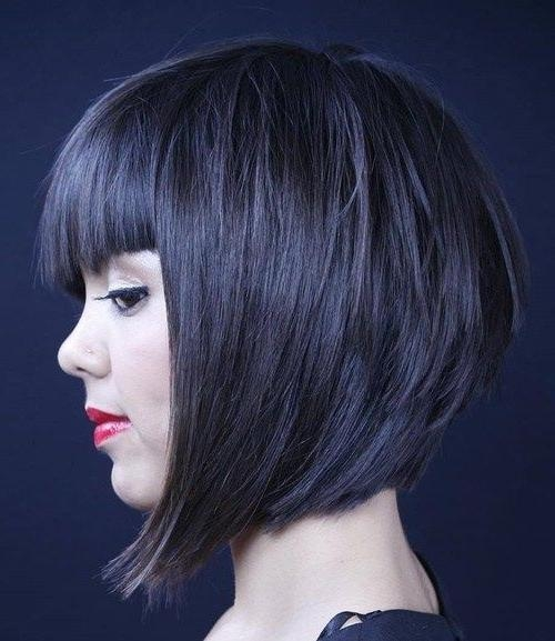 Well Known Inverted Bob Hairstyles With Blunt Bangs Inside Best 25+ Bob With Bangs Ideas On Pinterest (View 14 of 15)