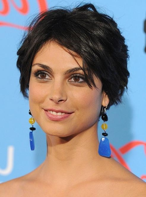 Well Known Morena Baccarin Bob Hairstyles For Morena Baccarin Layered Short Black Crop Cut – Hairstyles Weekly (View 12 of 15)