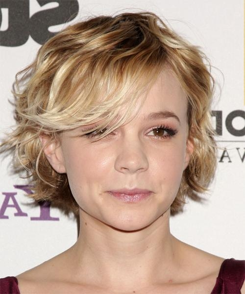 Well Liked Carey Mulligan Bob Hairstyles Regarding Carey Mulligan Short Wavy Casual Hairstyle – Dark Blonde Hair Color (View 14 of 15)