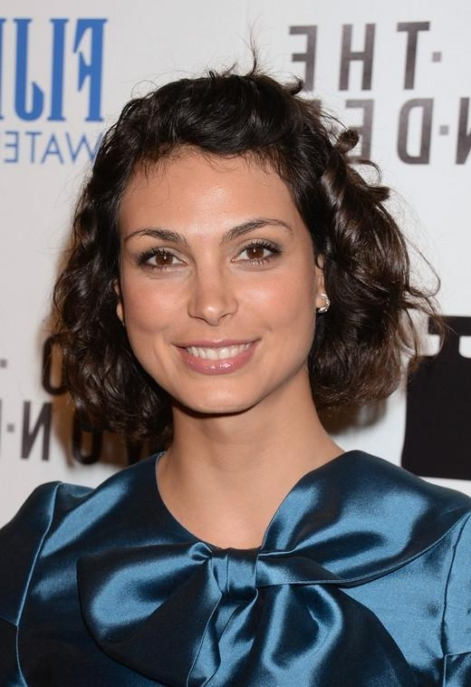 Well Liked Morena Baccarin Bob Hairstyles Regarding Baccarin Short Curly Bob Haircut (View 14 of 15)