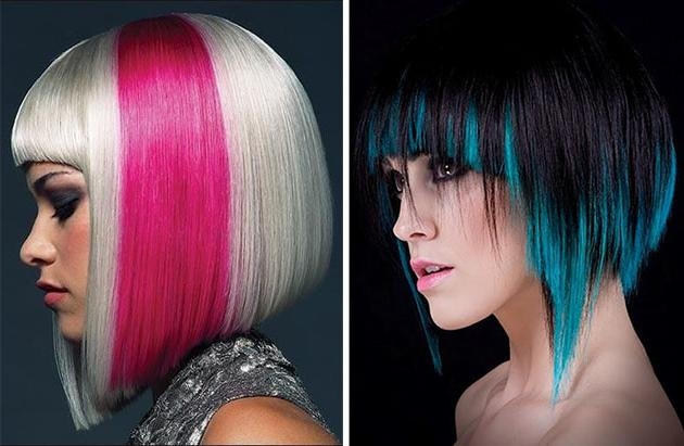 Widely Used Colored Bob Hairstyles For Hottest A Line Bob Hairstyles (View 15 of 15)