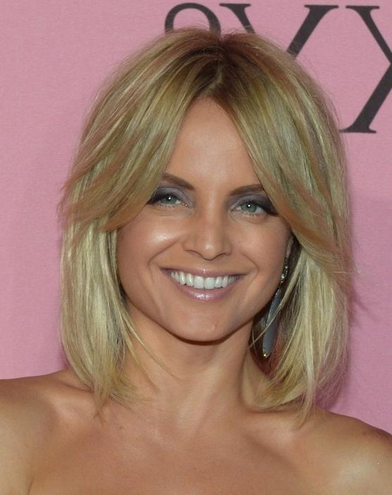 11 Celebrities Low Maintenance Hair Style Ideas For Women With Most Recently Released Mena Suvari Shoulder Length Bob Hairstyles (View 1 of 15)