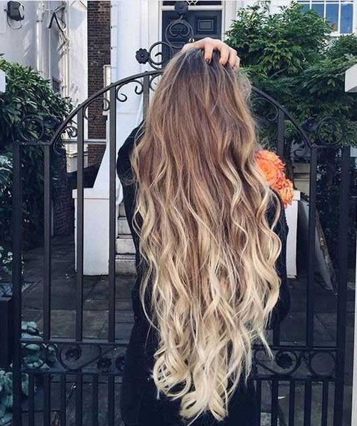 15 Ombre Long Hairstyles – Crazyforus Within Ombre Long Hairstyles (View 1 of 15)