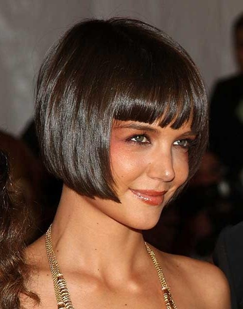 18 Sleek Katie Holmes Bob Haircuts – Crazyforus Pertaining To Newest Katie Holmes Short Bob Hairstyles (View 1 of 15)