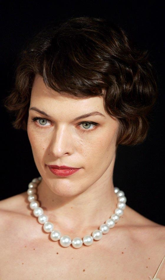 15 Collection Of Milla Jovovich Curly Short Cropped Bob