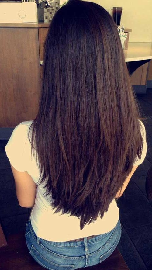 20 Layered Haircuts Back View | Hairstyles & Haircuts 2016 – 2017 For Layered Long Hairstyles Back View (View 4 of 15)
