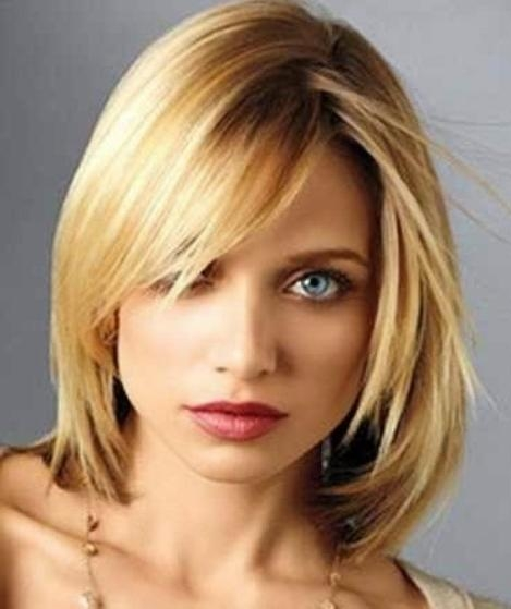 20 Medium Length Haircuts For Thick Hair In Favorite Medium Bob Hairstyles For Wavy Hair (View 3 of 15)